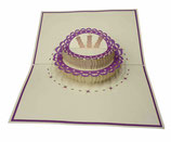 Gâteau mauve clair