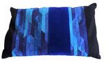 Nackenkissen Blau | Baumwollsatin, Baumwollsamt, Leinen | Dinkelspelze-Füllung | ca. 30 x 50cm