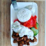Gyros Teller mit Reis