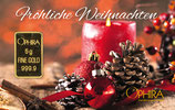 Frohe Weihnachten ab 0,50 g Gold - Rote Kerze - M8G1