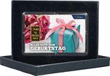 Geschenk und Rosen mit einem Goldbarren ab 0,50 Gramm M8G1