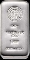 1 kg Silberbarren verschiedene Anbieter LBMA zertifiziert