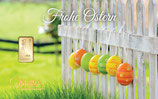 Geschenkbarren Frohe Ostern mit einem Goldbarren ab 0,10 g