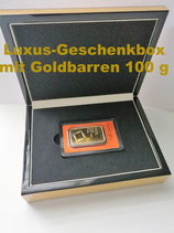 Goldbarren 100 Gramm in Luxus-Geschenkbox