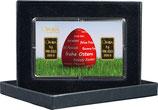 Rotes Osterei mit  zwei Goldbarren M3G2