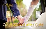 Geschenkbarren: Zur Hochzeit alles Gute mit 1 Gold- und 1 Silberbarren M2GS