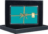 Geschenk  Farbe mint - mit einem Goldbarren ab 0,5 g - M13G1