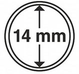 MÜNZKAPSELN CAPS 14 MM für z. B. Maple Leaf Gold 1/20 Oz