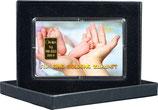 Für eine goldene Zukunft mit einem Goldbarren Geburt M5G1
