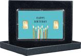 Happy Birthday  mit zwei Goldbarren ab 0,5 g  -  M9G2