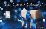 Geschenk mit blauem Band - mit einem Silberbarren ab 1 Gramm M7S1