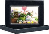 Frohe Ostern mit einem Goldbarren ab 0,50 g -Blumen und Ostereier- M1G1