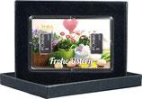 Frohe Ostern mit zwei Silberbarren ab 1 Gramm -Blumen und Ostereier- M1S2