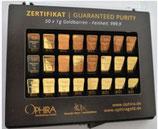 50 OPHIRA Goldbarren zu je 1 g