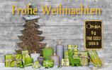 Frohe Weihnachten ab 0,50 g Gold - Grüne Geschenke -M3G1