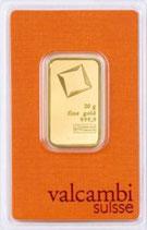Goldbarren 20 Gramm 999,9 mit Karte
