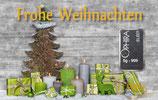 Frohe Weihnachten ab 1 g Silber- Grüne Geschenke - M3S1