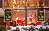 Frohe Weihnachten mit 2 Goldbarren - Kerze am Fenster - M6G2
