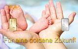Für eine goldene Zukunft mit einem Goldbarren und einem Silberbarren Geburt M5GS