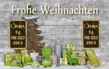 Frohe Weihnachten mit 2 Goldbarren - Grüne Geschenke - M3G2