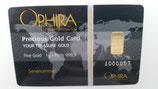 OPHIRA Gold - Karte 1 Gramm 999,9