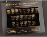 20 OPHIRA Goldbarren zu je 1 Gramm