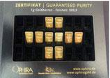 10 OPHIRA Goldbarren zu je 1 Gramm