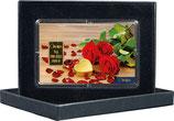 Rosen und Herz mit einem Goldbarren ab 0510 Gramm M2G1