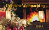 Fröhliche Weihnachten mit 2 Goldbarren M4G2