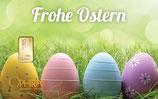 Geschenkbarren Frohe Ostern mit einem Goldbarren ab 0,10 g M5G1