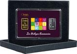 Zur Heiligen Kommunion mit einem Goldbarren und einem Silberbarren -Symbole lila- M1GS