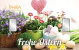 Geschenkbarren Frohe Ostern mit zwei Silberbarren ab 1 Gramm M1S2