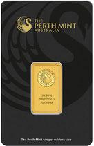 Goldbarren 10 Gramm 999,9 mit Karte