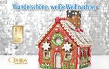 Wunderschöne, weiße Weihnachten - Lebkuchenhaus M1G1