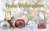 Fröhliche Weihnachten mit Gold und Silber M9GS