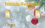 Fröhliche Weihnachten mit 2 Goldbarren M7G2