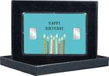 Happy Birthday - mit zwei Silberbarren ab 1 g  -  M9S2