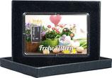 Frohe Ostern mit einem Silberbarren ab 1 g -Blumen und Ostereier- M1S1