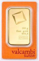 Goldbarren 100 Gramm Feinheit: 999,9