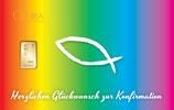 Herzlichen Glückwunsch zur Konfirmation mit Goldbarren ab 0,1 Gramm M5G1