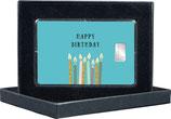 Happy Birthday - mit einem Silberbarren ab 1 g - M9S1
