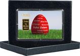 Rotes Osterei mit einem Goldbarren ab 0,50 g M3G1