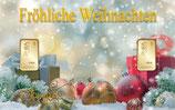 Fröhliche Weihnachten mit 2 Goldbarren M9G2