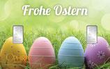 Geschenkbarren Frohe Ostern mit zwei Silberbarren ab 1 Gramm M5S2