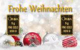 Frohe Weihnachten mit 2 Goldbarren - Kugeln im Schnee - M5G2