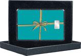 Geschenk -Farbe mint- mit goldener Schleife - mit einem Silberbarren ab 1 g - M13S1