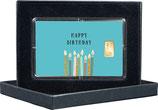 Happy Birthday mit einem Goldbarren ab 0,50 Gramm M9G1
