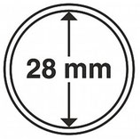 MÜNZKAPSELN CAPS 28 MM für z. B. Wiener Philharmoniker Gold 1/2 Oz