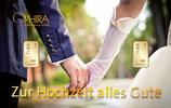 Zur Hochzeit alles Gute mit zwei Goldbarren ab 0,10 Gramm M6G2