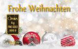 Frohe Weihnachten ab 0,50 g Gold - Kugeln im Schnee - M5G1
